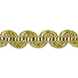 "1/4"" Pia Scroll Braid Trim Roll Gold"