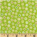Riley Blake Flannel My Sunshine Floral Green