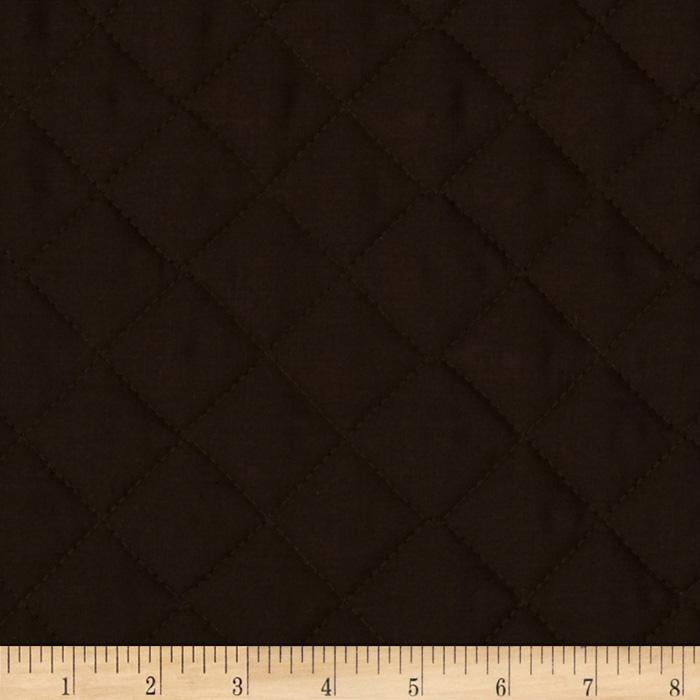 Double Sided Quilted Broadcloth Dark Brown