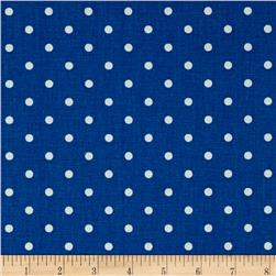 Premier Prints Mini Dot Cobalt/White