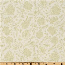 Riley Blake Decadence Floral White/Lime