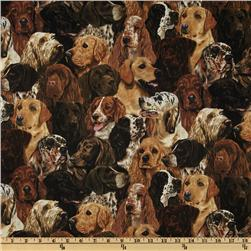 Gun Dogs Packed Dogs Brown Fabric