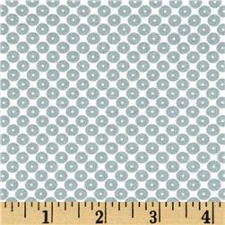 Dots Right Sequin Dot Grey Fabric
