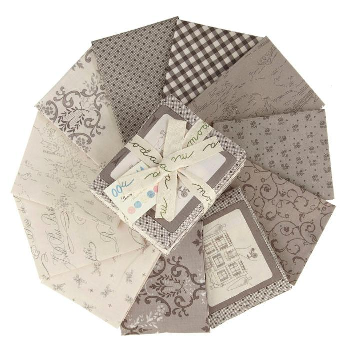 Moda Ooh La La Fat Quarter Assortment Grey