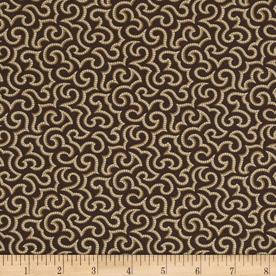 Hannah's Heritage Vintage Flourish Brown/Tan