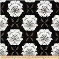 Riley Blake Mod Studio Large Floral Black