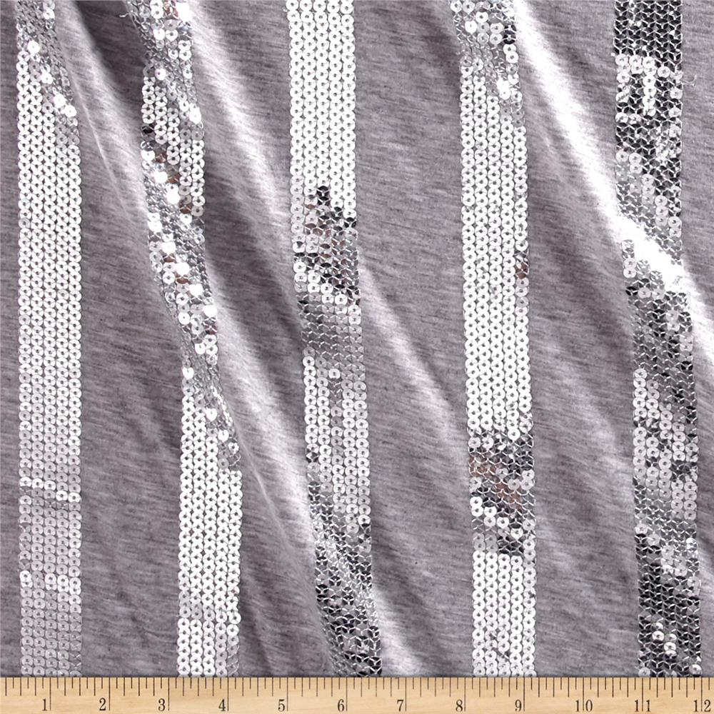 Sparkle jersey knit grey sequin discount designer fabric for Sequin fabric