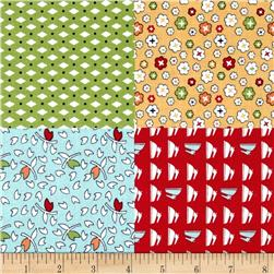 Riley Blake Vintage Happy Fat Quarter Panel Yellow