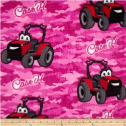 CASE IH Kids Fleece Allover Pink Camouflage Fabric