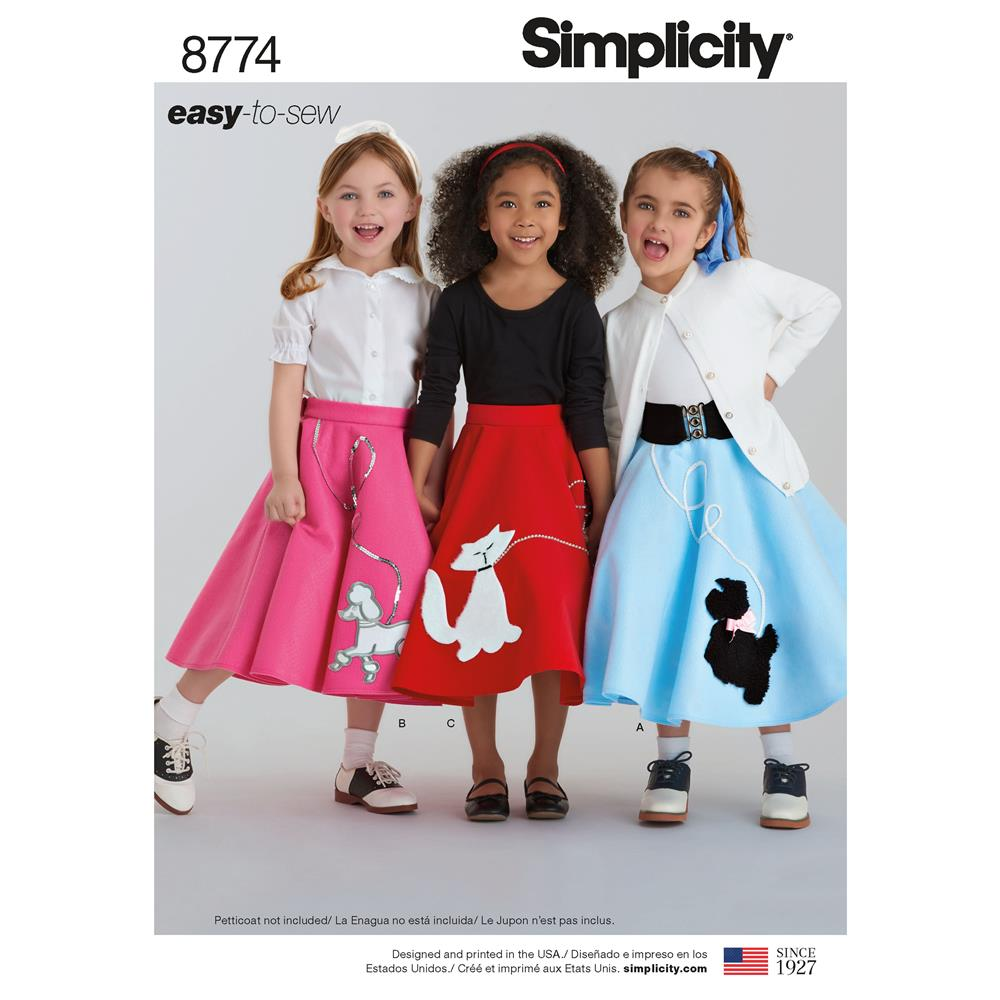 Simplicity 8774 Children S And Girls Costumes K5 Sizes 7