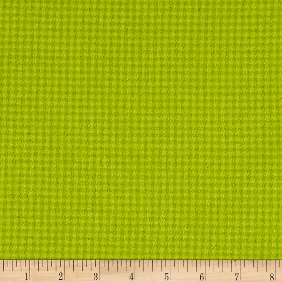 Local Color Yarn Dyed Flannels Houndstooth Lime