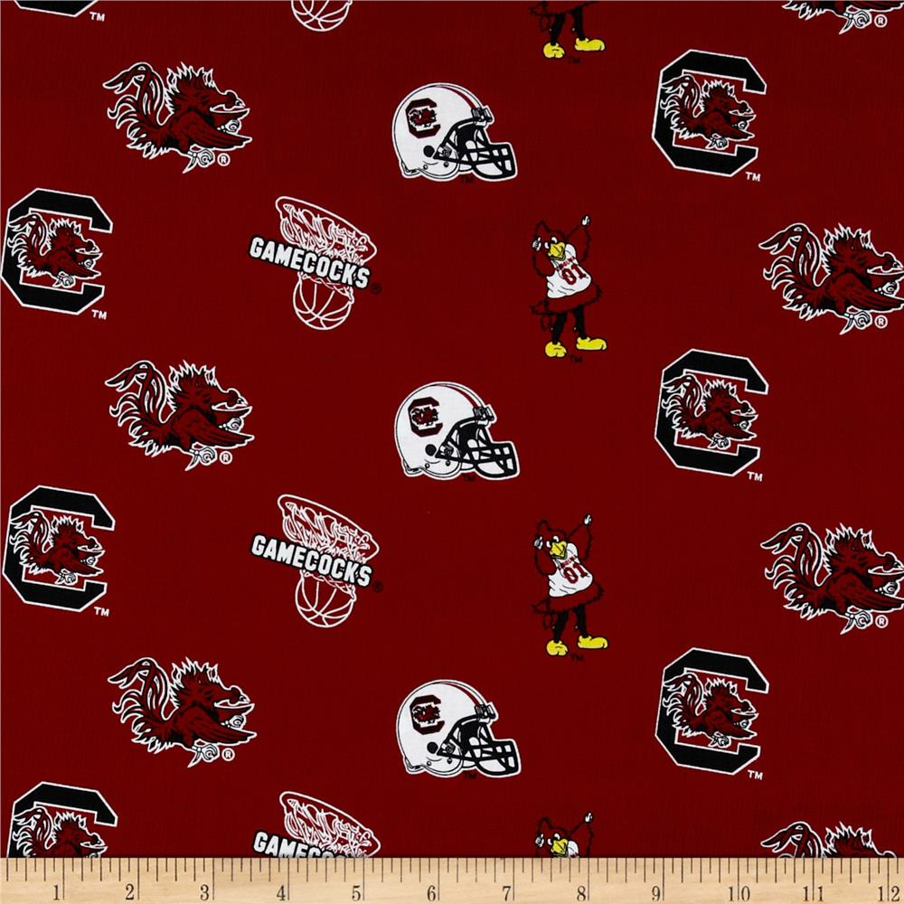 Collegiate Cotton Broadcloth  University of South Carolina