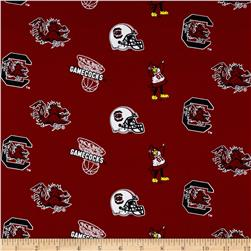 Collegiate Cotton Broadcloth University of South Carolina Fabric