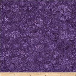 Bali Batiks Handpaints Floral Damask Grape