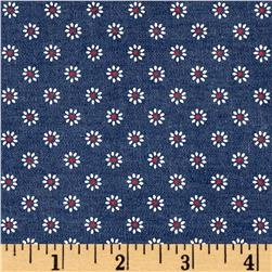 Telio Printed Denim Floral Medium Blue White/Red