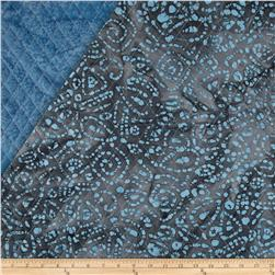 Indian Batik Double Sided Quilted Abstract Paisley Lt.
