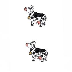 Novelty Button 1'' Bossy Cow Multi
