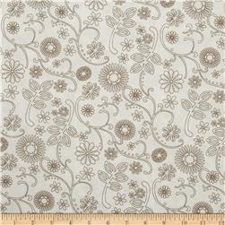110'' Wide Quilt Backing Signature White/Taupe Fabric