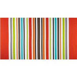 Michael Miller Big Stripe Clementine Orange