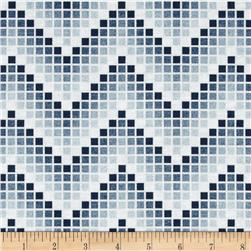 Mosaic Chevron Blue