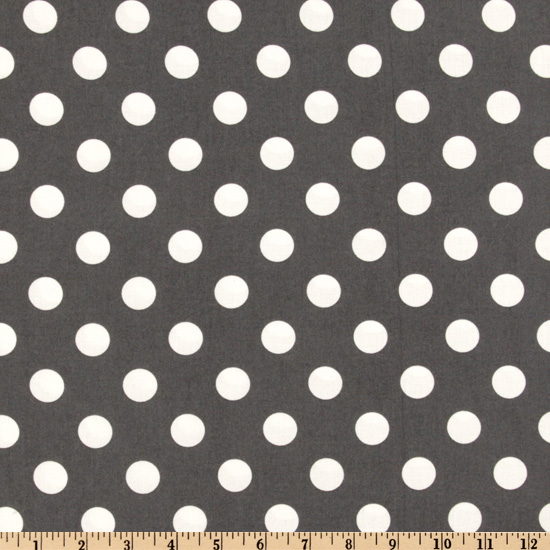 Michael Miller Quarter Dot Grey Fabric