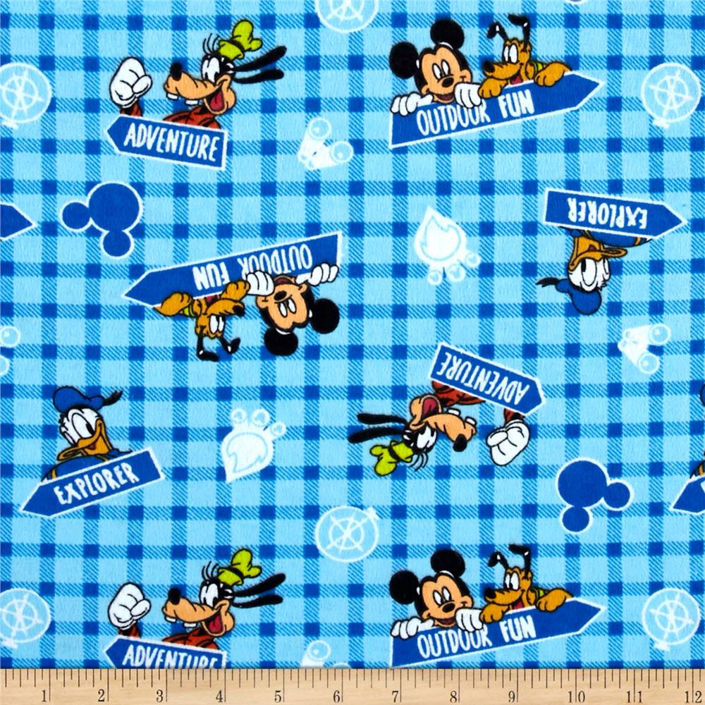 Disney Mickey Outdoor Fun Flannel Blue