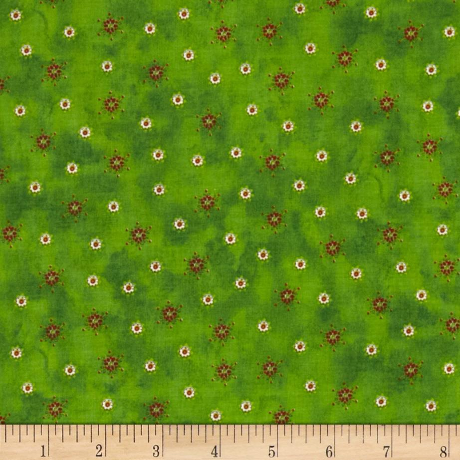 Peppermint Lane Small Flowers Green