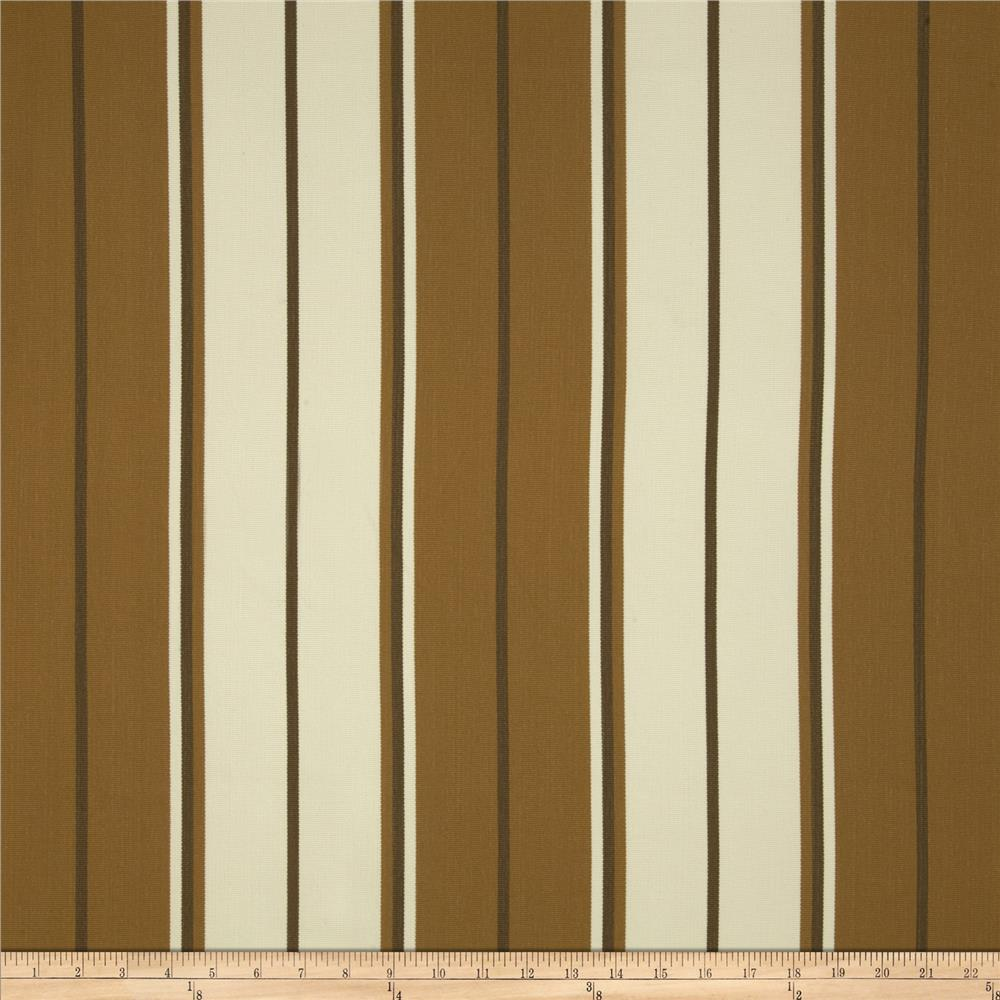 Bella-Dura Eco-Friendly Indoor/Outdoor Summer Tide Stripe Brown/Dark Tan
