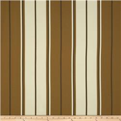 Bella-Dura Indoor/Outdoor Summer Tide Stripe Brown/Dark Tan
