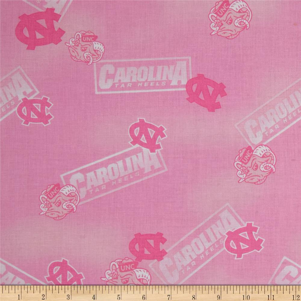 Collegiate Cotton Broadcloth North Carolina Pink