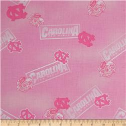 Collegiate Cotton Broadcloth North Carolina Pink Fabric