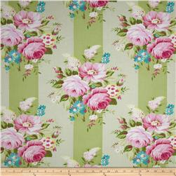 Tanya Whelan Sunshine Roses Picnic Bouquet Green Fabric