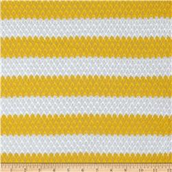 Lace Sweater Knit Stripes Yellow/White