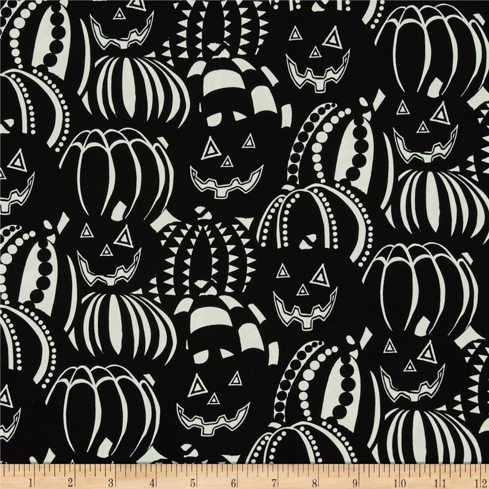 The Boo Crew Glow In The Dark Stacked Pumpkins Black
