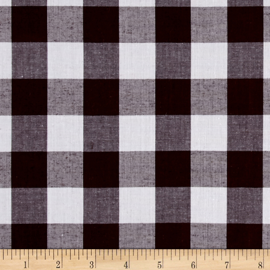 Richcheck 60'' Gingham Check 1'' Brown Fabric by Richland in USA