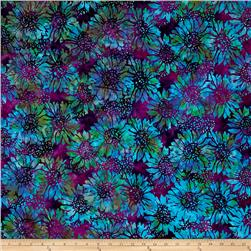 Island Batik Sunflower Purple/Light Blue