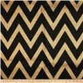 48'' Chevron Burlap Natural/Blacka