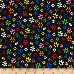 Brights & Pastels Basics Small Starburst Black/Multi Fabric