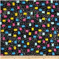 Tossed Dots Rectangles Black