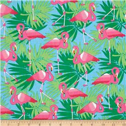 Bahama Breeze Pink Flamingo Powder Blue