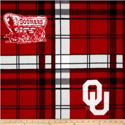 University of Oklahoma Fleece Plaid Crimson