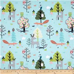 Timeless Treasures Walk In The Woods Woodland Scenic Aqua