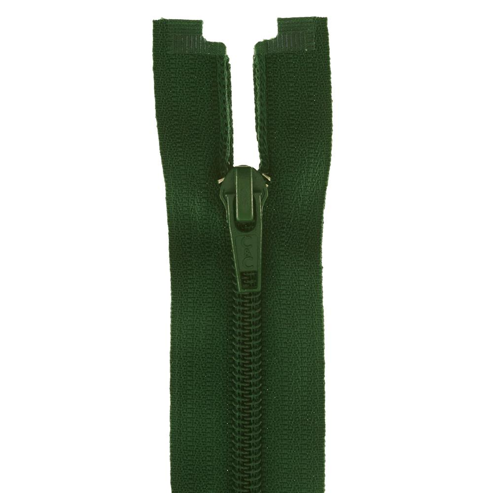 "Coats & Clark Coil Separating Zipper 12"" Forest Green"