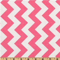 Riley Blake Chevron Medium Hot Pink Fabric