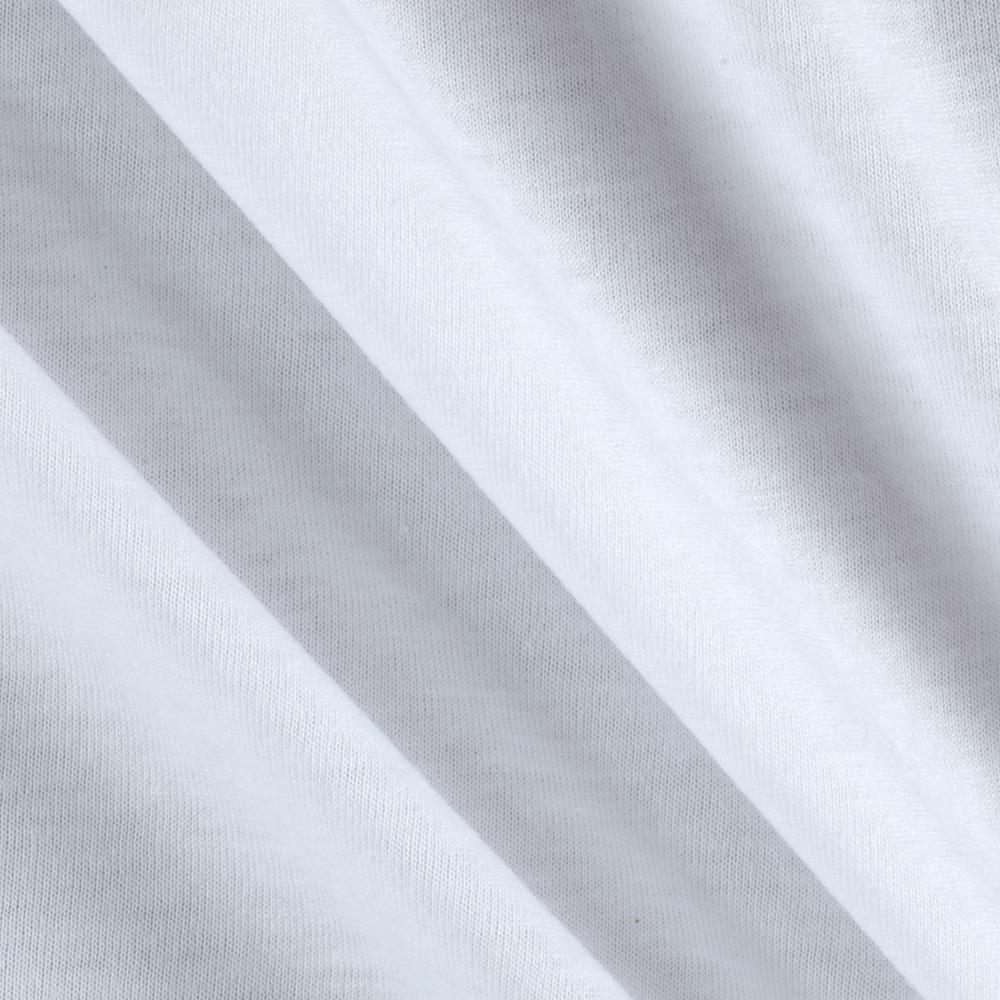Cotton Jersey Knit Solid Light White
