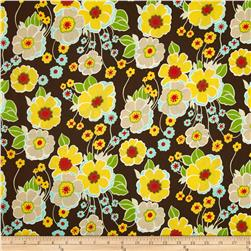 Nicole's Prints Retro Floral Brown