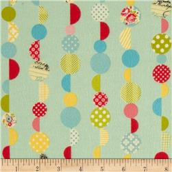Riley Blake Sidewalks Flannel Marbles Teal