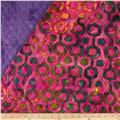 Indian Batik Double Sided Quilted Vertical Tribal Print Multi/Fuchsia