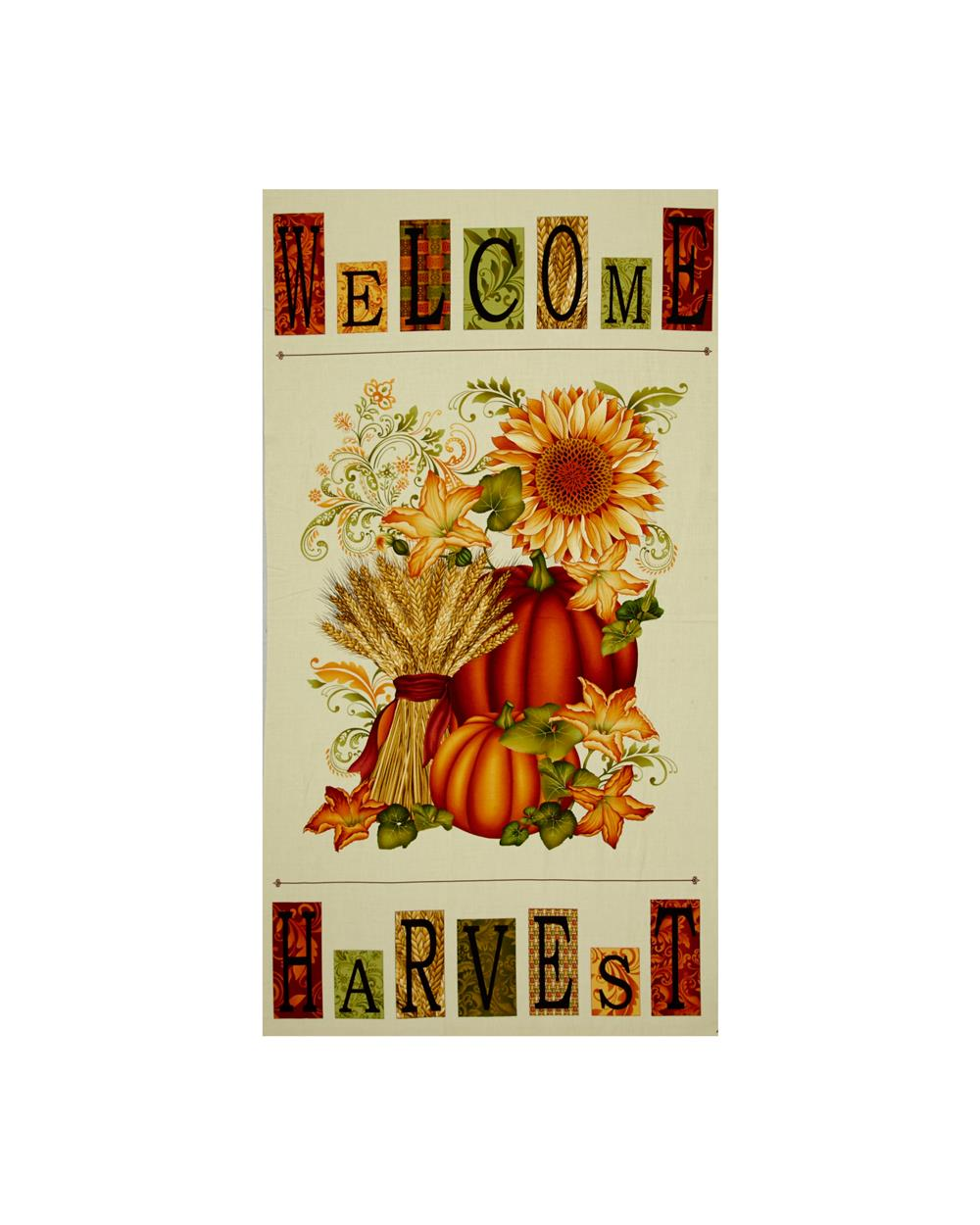 Welcome Harvest 24 In. Panel Cream