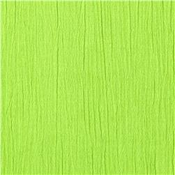 Crinkle Cotton Gauze Lime Fabric